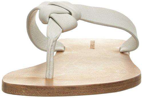 Frye Vrouwen Perry Knoop Thong Platte Sandaal Witte