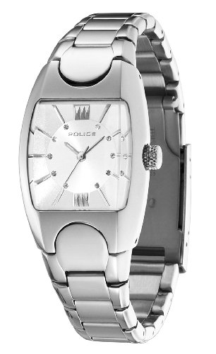 Police Women's PL-11049LS/04M Lucid White Dial Stainless Steel Watch