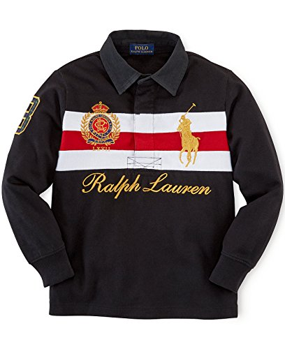 ys Big Pony Heritage Long Sleeve Rugby Shirt (2 2T) (Long Sleeve Two Button Rugby)