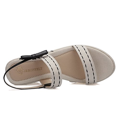 Material Assorted Toe Color Heels Womens Pull Soft Sandals Beige AmoonyFashion on Open High wqIXnH