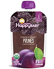 Happy Baby Clearly Crafted Stage 1 Prunes, 3.5 oz package (Pack of 8)