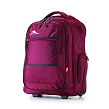 High Sierra 58420-5802 Rev Wheeled Backpack, Cranberry/ Black, International Carry-On