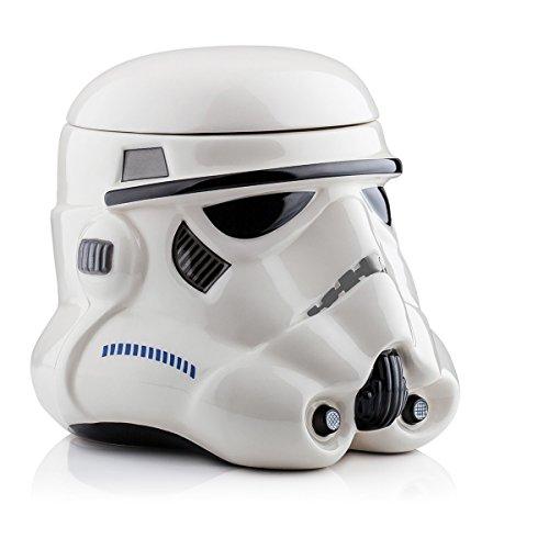 Star Wars 3D Keksdose Stormtrooper mit Deckel - weiß, aus Keramik, im Geschenkkarton.