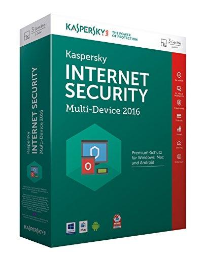 Price comparison product image Kaspersky Internet Security 2016 Multi Device 3 User. Für Windows Vista / 7 / 8 / 8.1 / 10 / MAC / Android