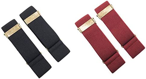 SupSuspen 2 Pairs Vintage Armbands Sleeve Holders Garters for Men 1.4 Inch Width