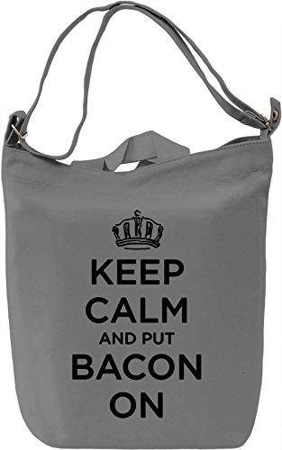 Keep Calm And Borsa Giornaliera Canvas Canvas Day Bag| 100% Premium Cotton Canvas| DTG Printing|