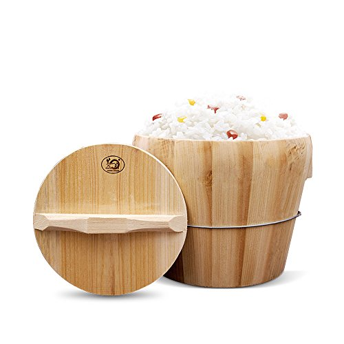 HUANGYIFU Large Size Wooden Bucket for Steaming Rice Zenziyan to Cook Glutinous Sticky Rice,35CM-60CM, for Commericial Use Rice Restaurant by HUANGYIFU