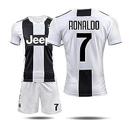 BNV-Dhhboy Kits de Formation de Football for Enfants Jeunes garçons Adulte, 2018-2029 T-Shirt Juventus Cristiano Ronaldo # 7 Respirant Séchage Rapide Teamswear & Sportswear (Size : 3XS)