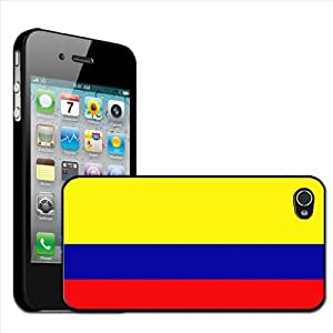 Fancy A Snuggle - Carcasa rígida para Apple iPhone 4 y 4S, diseño de la bandera de Colombia