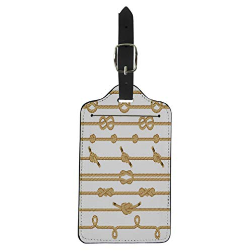 Pinbeam Luggage Tag Scout Rope Knots Collection Boat Sea Ship Straight Suitcase Baggage Label