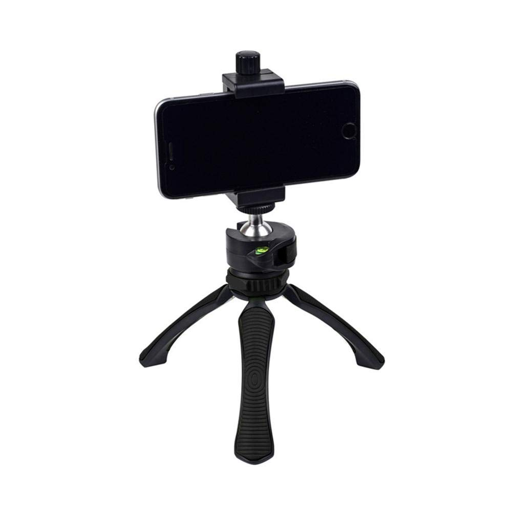 Mini Lightweight Table Top Stand Travel Portable Tripod and Hand Holder Monopods Grip Stabilizer for Digital Camera, DSLR,Video Camcorder,Tripod Mount for iPhone Android Cellphone
