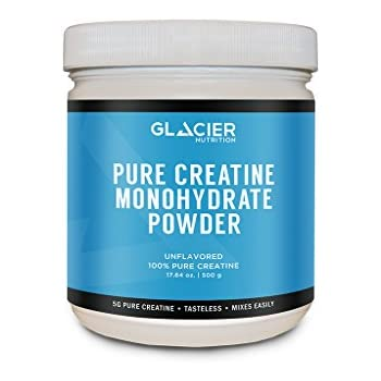Glacier Nutrition Pure Creatine Monohydrate Powder - 500 grams - No Fillers or Artificial Ingredients