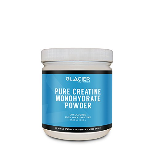 Glacier Nutrition Pure Creatine Monohydrate Powder - 500 grams - No Fillers or Artificial Ingredients