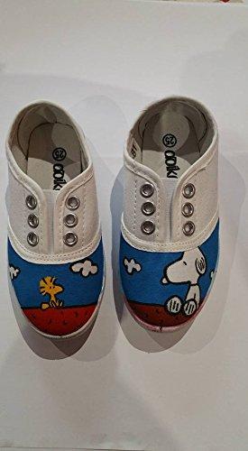 Zapatillas pintadas a mano para bebés