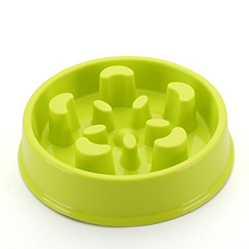 YOURKEY Slow Feeder Bowl For Dogs Plastic Plates For Pets Non Slip Tray Fun Feeder Interactive Bloat Stop Dog Bowl Durable