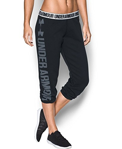 Under Armour Women's Favorite Fleece Capri, Black (001), X-Small