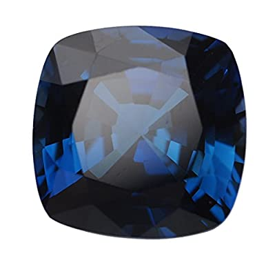 Blue Created Sapphire Square Cushion Facet Gemstone 10mm from uGems