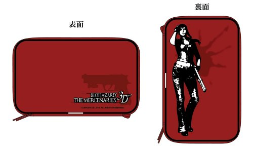 Exar Biohazard The Mercenaries Case Cover For Nintendo 3Ds Semi Hard Type Red Pouch