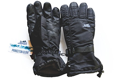 Mountain Made Princeton Winter Gloves For Men and Women (Large),Black