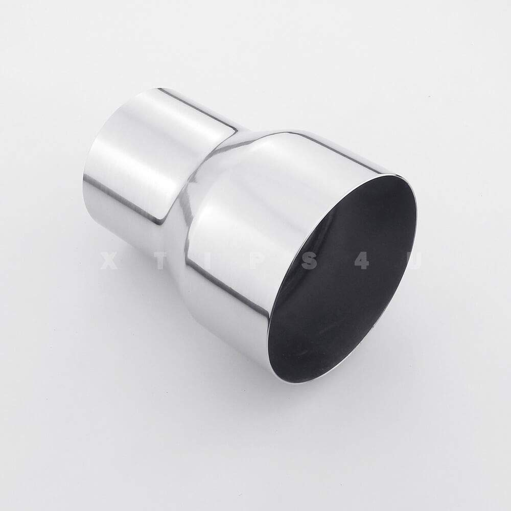 """3/"""" OD to 3/"""" OD Exhaust Pipe Connector Adapter Reducer 304 Stainless Steel"""