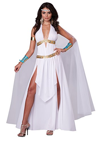 Sexy Goddess Costumes (California Costumes Women's Glorious Goddess Sexy Long Gown Costume, White, Medium)