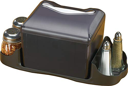 (San Jamar H4005 Venue Table Top Fullfold Control Napkin Dispenser Only, 200 Capacity, Black Pearl)