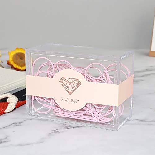 Pink Jumbo Paper Clips, Multibey 2