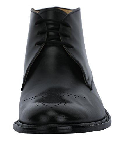 Liberty Mens Handmade Leather Chukka Boots Lace Up Closure High Ankle Dress Shoes Black 8Pcxgeigdh
