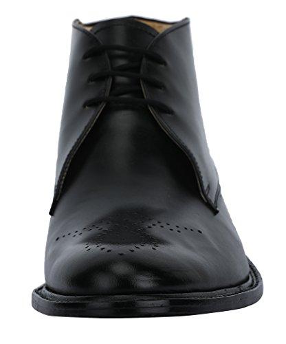 Liberty Mens Handmade Leather Chukka Boots Lace Up Closure High Ankle Dress Shoes Black PGi8yK6s1B