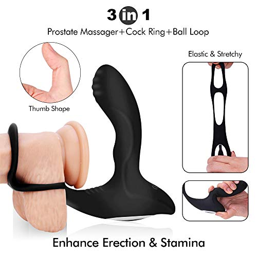 Heating-Wireless-Remote-Male-Prostate-Massager-10-Frequencies-Vibrator-3-in-1-with-Penis-Ring-and-Ball-Loop-2-Intense-Motors-Rechargeable-Anal-Sex-Toys-Waterproof-G-Spot