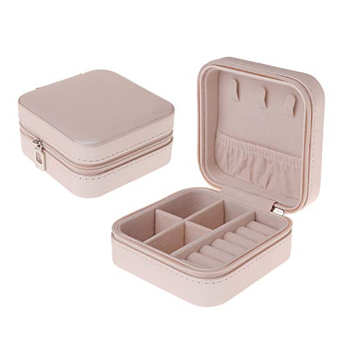 Jewelry Box Portable Storage Organizer Zipper Portable, used for sale  Delivered anywhere in USA