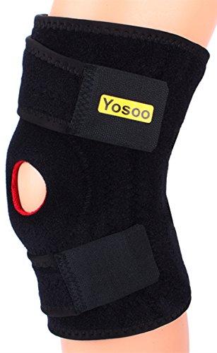 Apoyo Yosoo ajustable neopreno rodillera con rótula abierta básico estabilizador de la rótula soporte y Estabilizadores laterales para entrenamiento