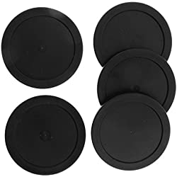 MagiDeal 5 Pieces 62mm Air Hockey Replacement Pucks For Full Size Air Hockey Tables - Black