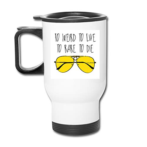 To Weird To Live To Rare To Die Fear And Loathing In Las Vegas 16 Oz Stainless Tumbler Double Wall Vacuum Coffee Mug With Splash Proof Lid For Hot & Cold Drinks