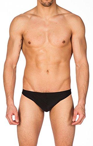 Gary Majdell Sport Men's Black Greek Bikini Swimsuit with Contour Pouch Medium