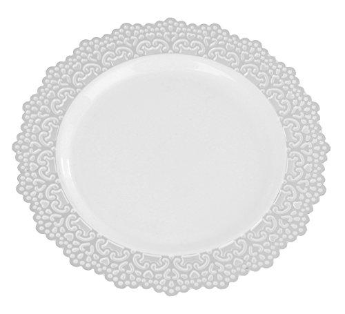 Premium Decorative Plastic Dinnerware Plates - 10