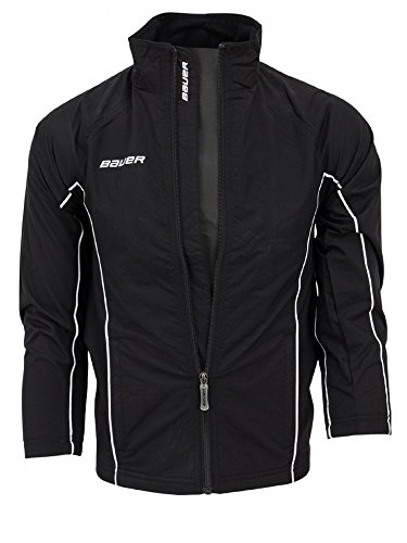 Bauer Youth Warm Up Jacket, Black - Warm Up Youth Jacket