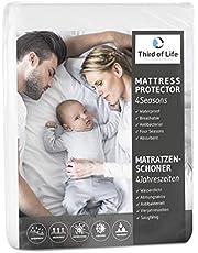 Third of Life Matratzenschoner Vierjahreszeiten | Molton Matratzenauflage | Matratzenbezug wasserdicht mit Eckgummis | Hygienische Matratzenschutz-Hülle | Saugfähig, Anti-Milben & Antibakteriell