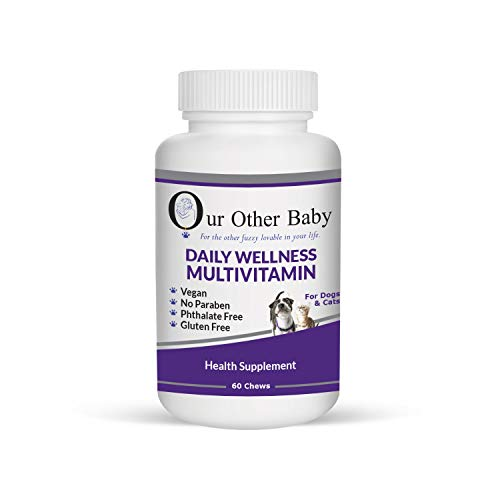 (Our Other Baby Daily Wellness Multivitamin Health Supplement – Pet Vitamins for Joints, Digestive Support, Skin Health and Vision – 60 chewable tabs for Dogs & Cats – Total Pet)