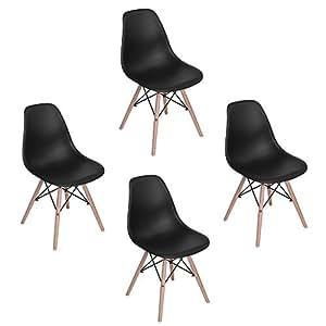 Eggree pack de 4 eames dsw comedor silla tm sillas con torre eiffel hogar - Silla eames amazon ...