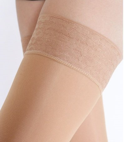 7302199b110be BriteLeafs Opaque Thigh High Compression Stockings Firm Support 20-30 mmHg,  Stay-Up