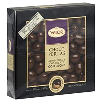 Valor Choco Perlas - Milk Chocolate Covered Marcona Almonds (8.75 oz/250 g)