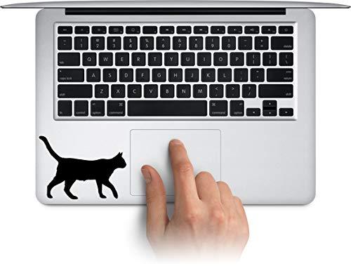 WallDecalArtStudio Walking Cat Vinyl Laptop Decal, MacBook Sticker, Water Bottle Cup Decals, Waterproof Car Bumper Stickers Made in US (Message for Color) ()