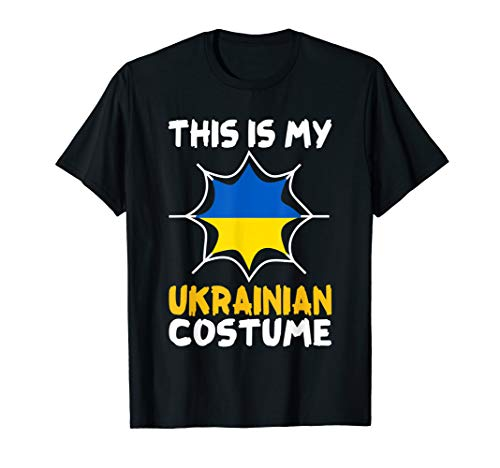 This Is My Ukrainian Costume Halloween Patriot Ukraine Tee]()