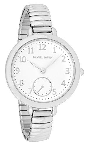 Expansion Bracelet Watch - Daniel David Women's | Elegant Silver-Tone Expansion Bracelet Watch | DD15002