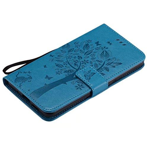 10 Ougger gris Bleu Arbre Coque Alp Fente Pour Chat Avec Protecteur Alp Etui Carte Portefeuille Pochette l29 Mate Cover Magnétique l09 Cuir Silicone Huawei Housse rIIwSfgxq