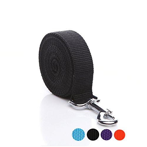 SALO Durable Nylon Dog Leash 6 Feet Long, Walking Training Dog Leashes for Medium Large Dogs, 1 Inch Wide (Black)
