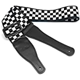 BestSounds [Shepherd check] Guitar Strap Adjustable Polyester Strap - Suitable For Bass, Electric & Acoustic Guitars (Shepherd check) … …