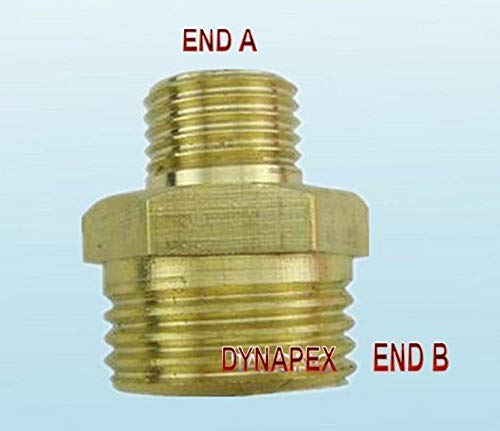 M14 x 1.5 M14X1.5 Male to 1/2 Male NPT Coupling Metric Pipe Fitting Gauge ()