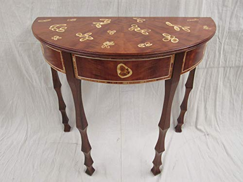 Marquetry demilune; NEW.